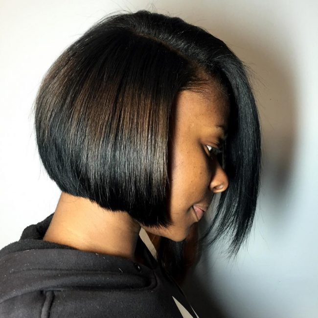 Asymmetrical Face Framing Bob Cut