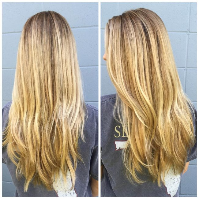 Balayage Touch Up for Long Hair