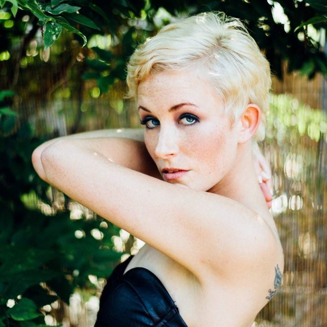 Beach Blonde Pixie Cut