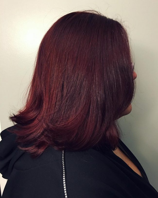 Dark Cherry Hair Color Ideas For Dark Skin
