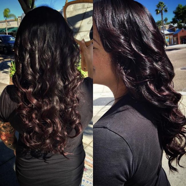 Black Cherry Ombre for Mermaid Hair