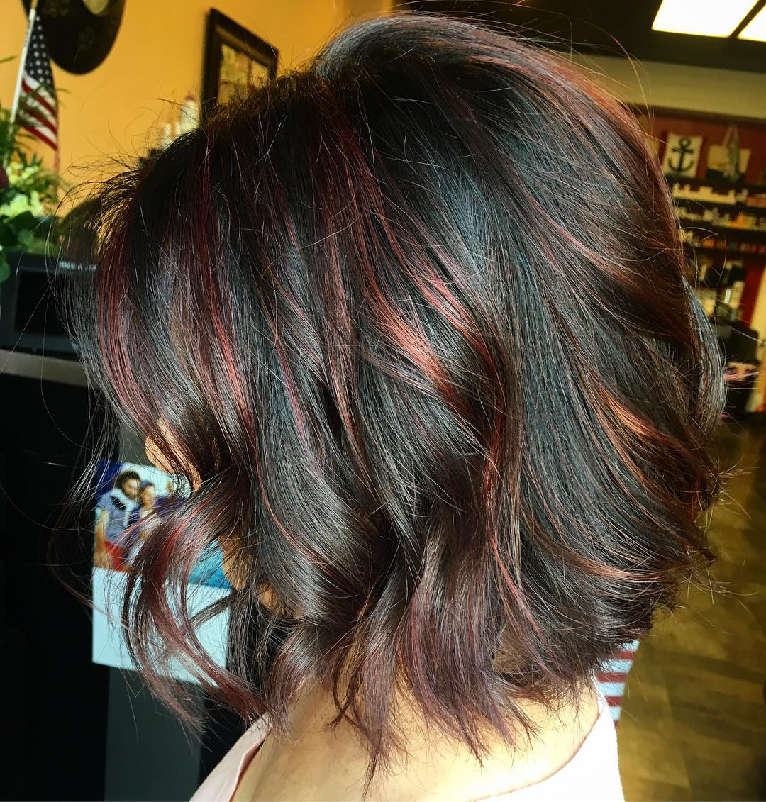 70 Breathtaking Red Highlights Styles Flames In Your Hair