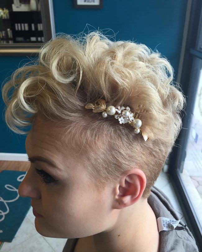 Bleach Blonde Updo