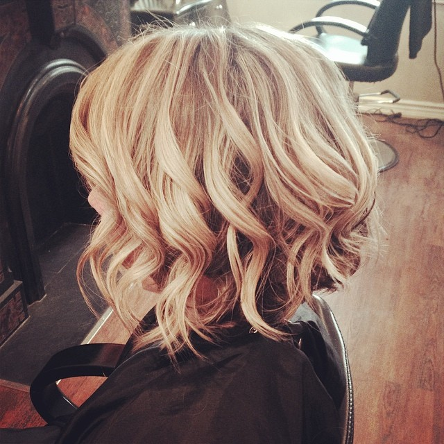 Blonde Bob with Sculpted Waves