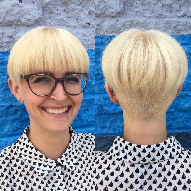 Blonde Pixie Bowl