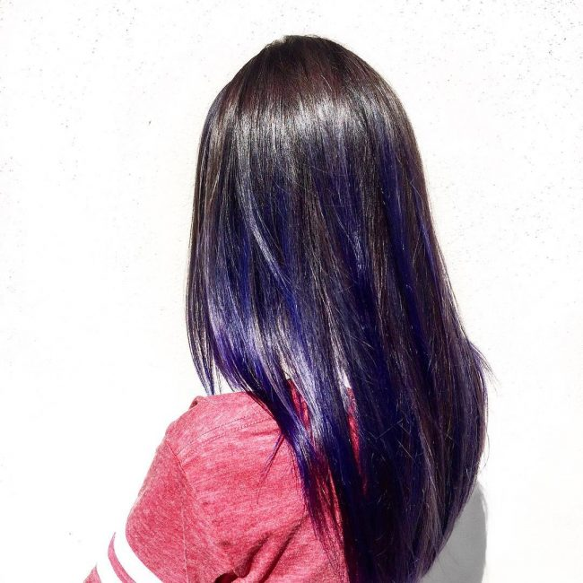 Blue-Violet Balayage Ombre