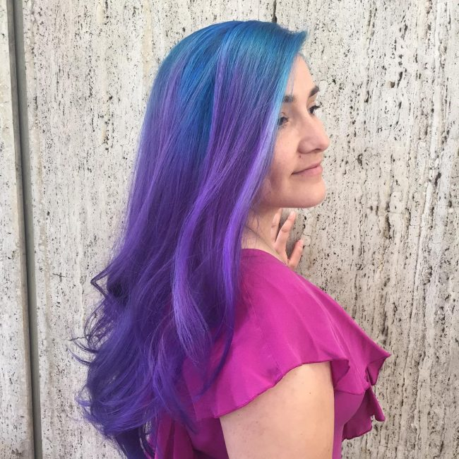 Blue and Purple Ombre