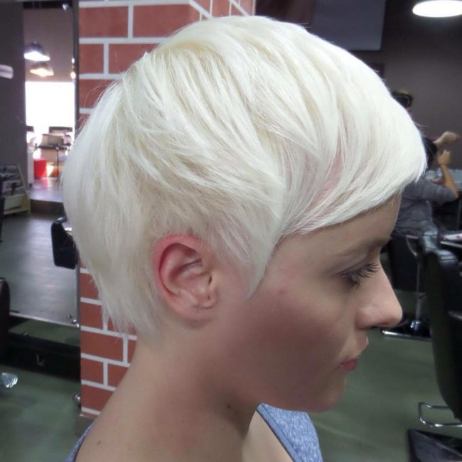 Boyish Platinum Bowl Cut