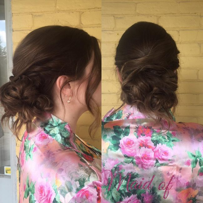 Braided with Side Bangs