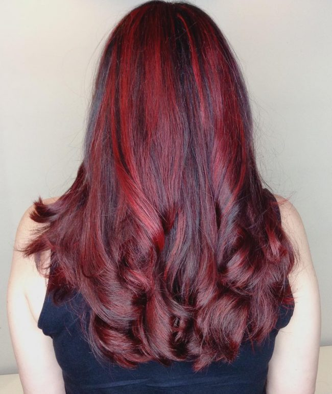 Bright Burgundy Curls