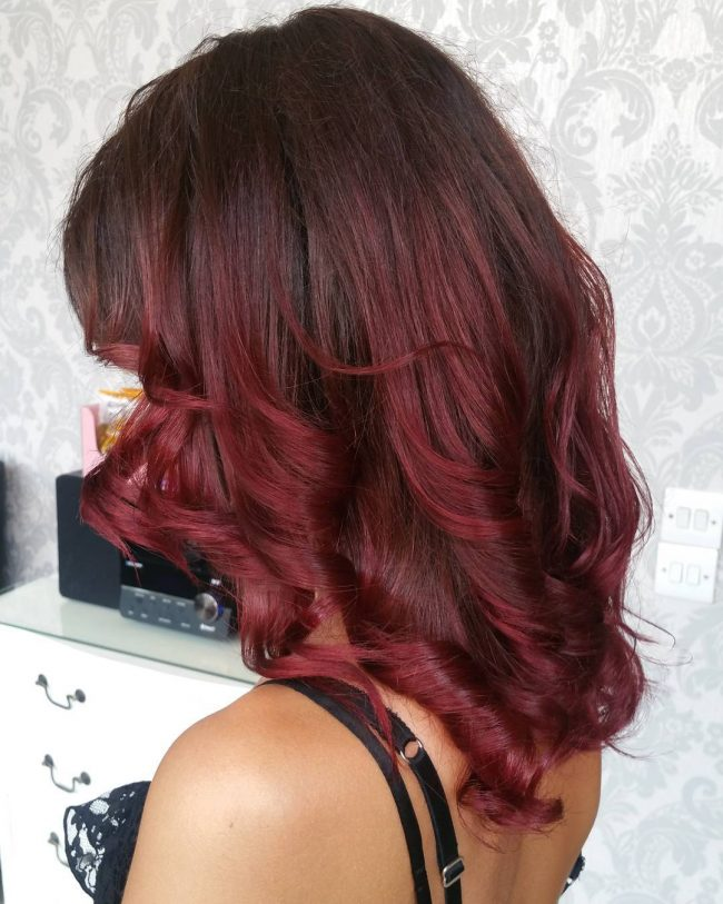 Brown and Red Ombre