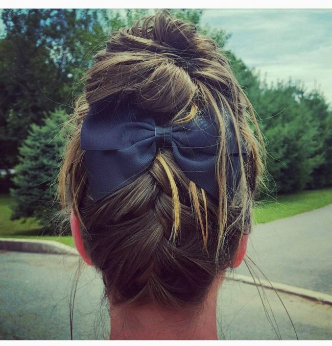 Bun with Bows and Braids