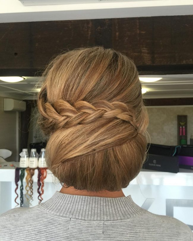 Charming Braided Chignon