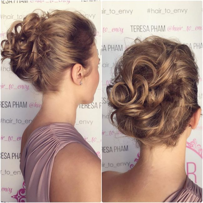 Chic Messy Curly Bun