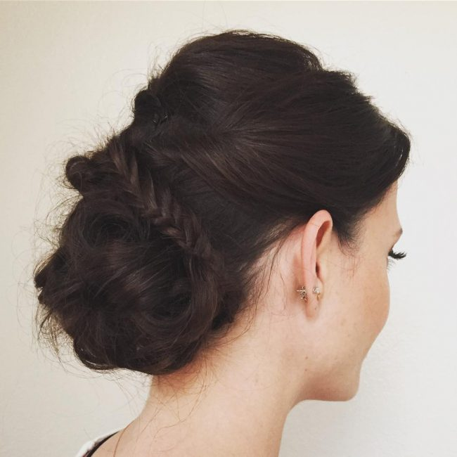 Chunky Twisted and Braided Chignon