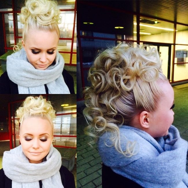 35 Great Curly Mohawk Hairstyles Cuteness And Boldness
