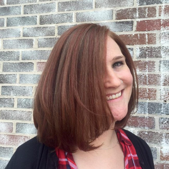 Copper Hair with Muted Shades of Auburn