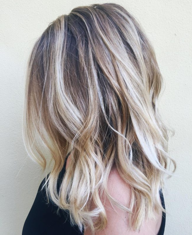 Creamy Balayage Beach Waves
