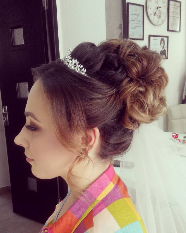 Creative Bridal Bun