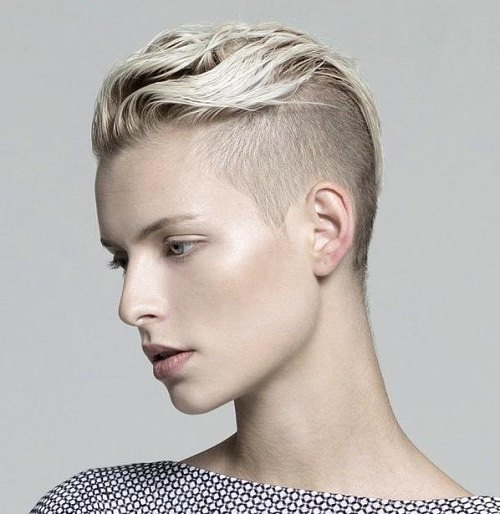 Cropped Blonde Mohawk