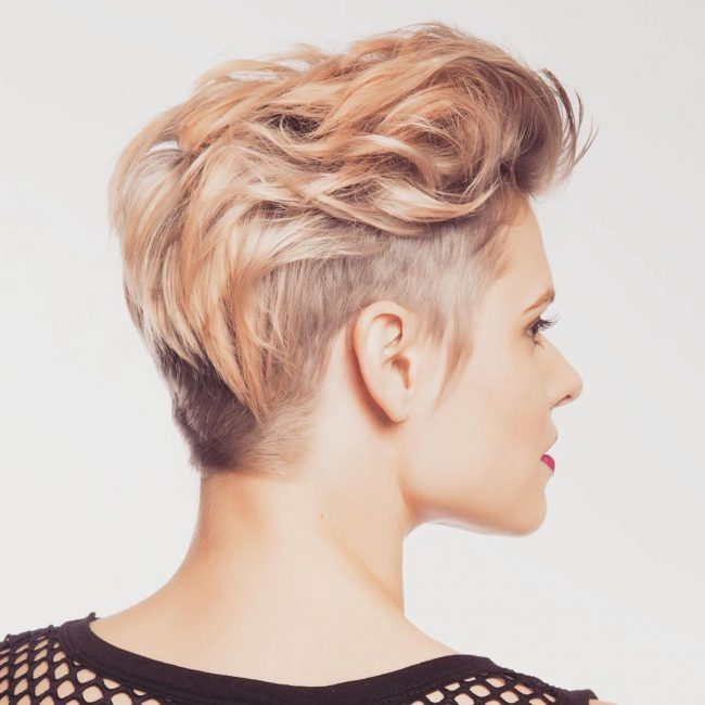 Cropped Pixie with Peach Blonde Locks