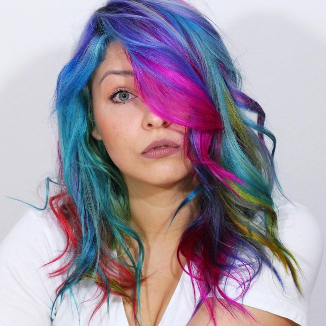 Curly Rainbow Hair