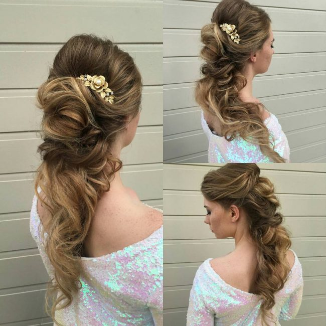 Curly and Loose Bridal Pony