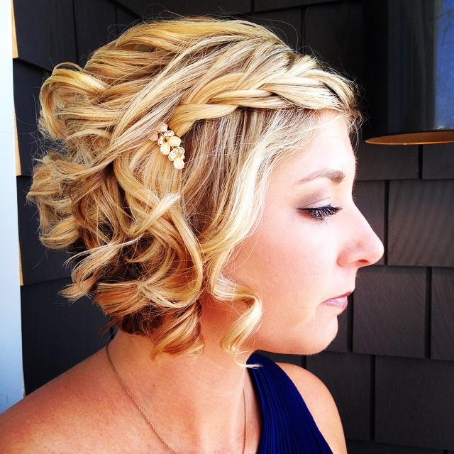 Cute Blonde Curls with Braided Headband