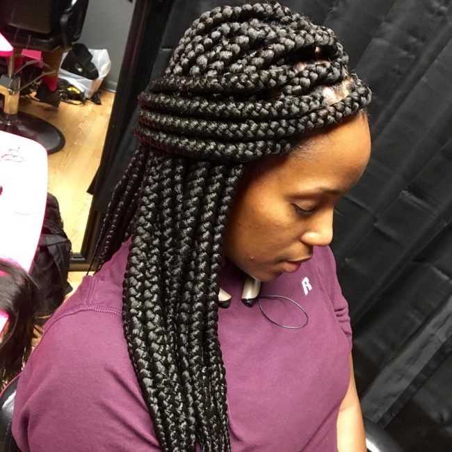 Cute and Chunky Box Braids