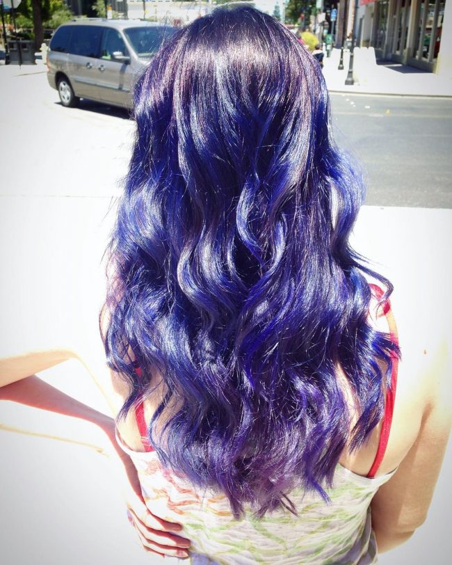 Deep Blue Hair Flare