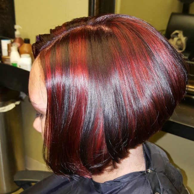 Deep Brown Bob with Brilliant Ombre Highlights