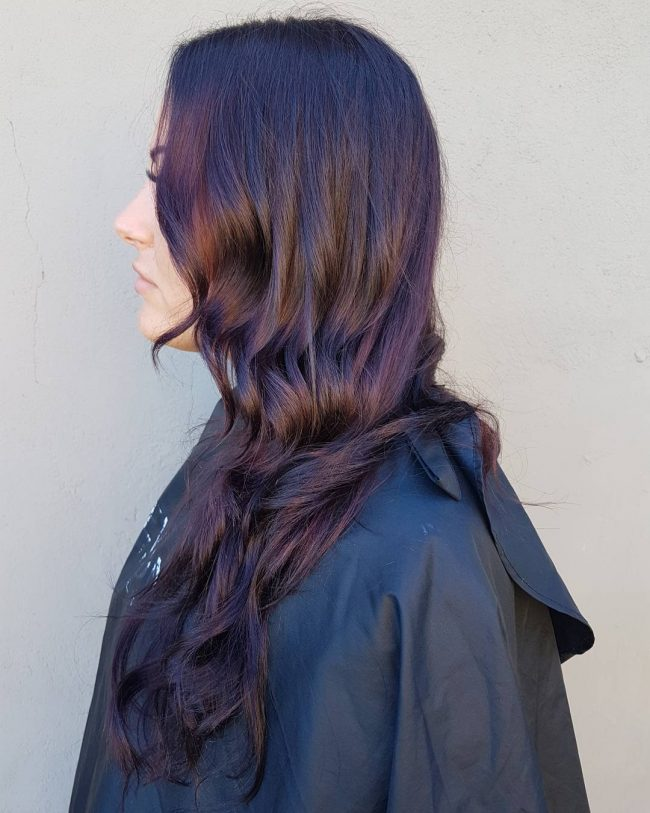 Deep Brown and Purple Sombre