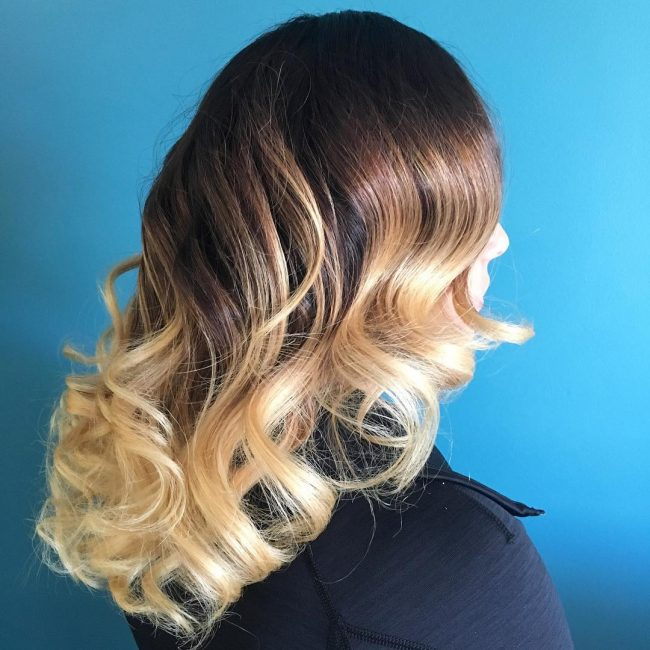 Deep Chocolate Brown to Golden Blonde Ombre