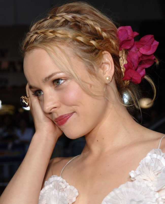 Double Braids with Flowers