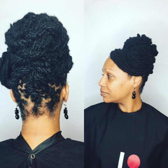 Dreadlock Updo