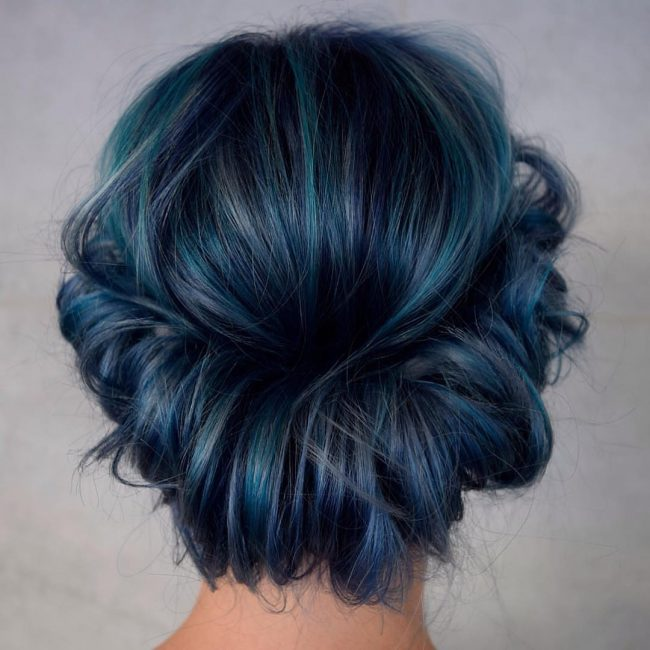 Dynamic Blue Hair
