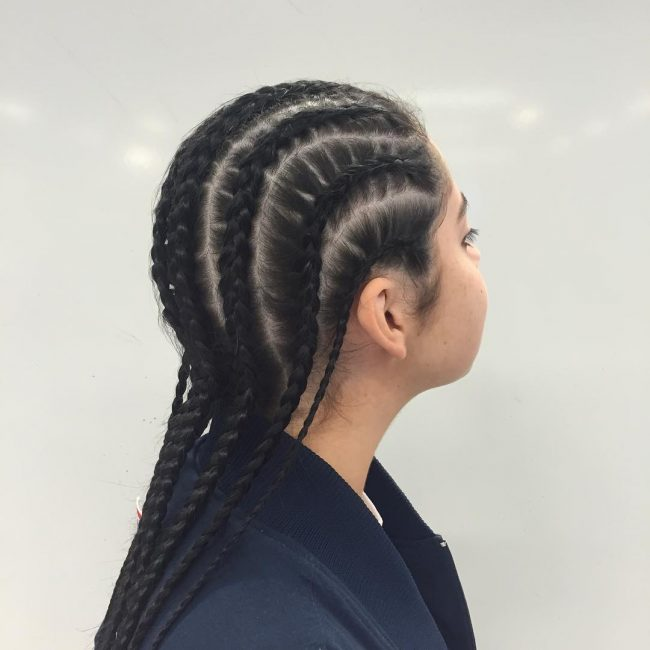 Easy Eight Cornrows Design