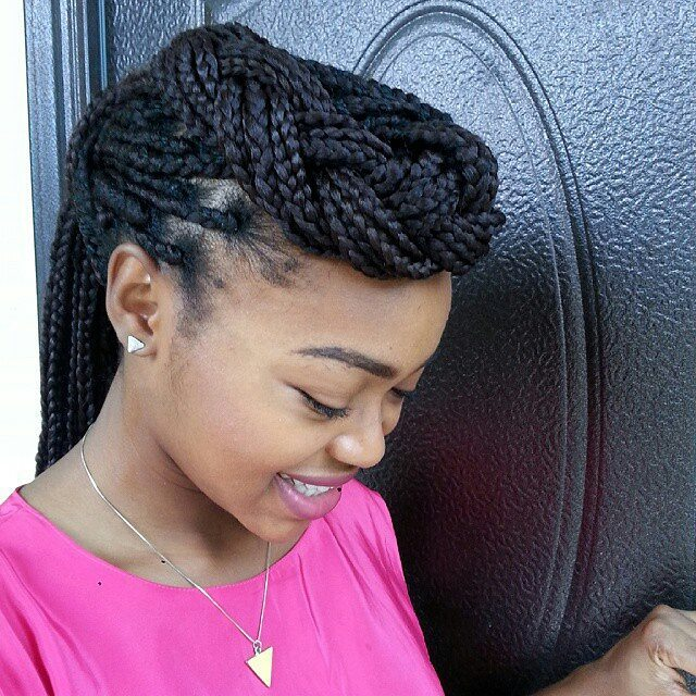 Easy Twisted Box Braids
