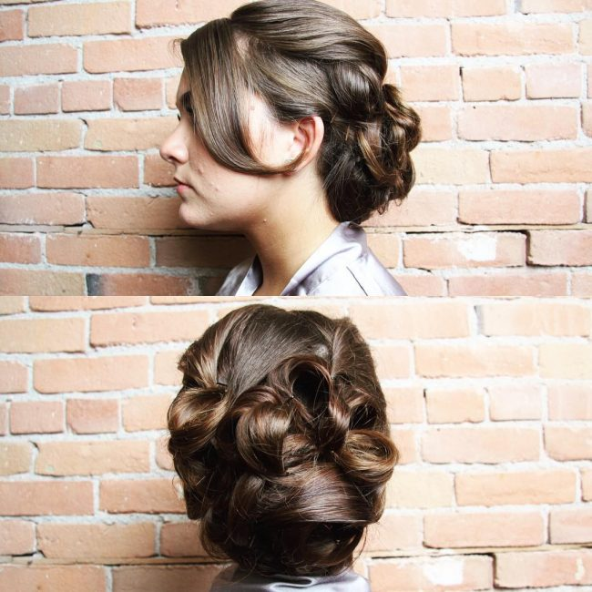 Elegant Bridesmaid Bangs