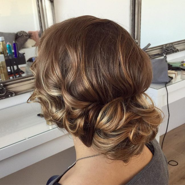 Elegant Wavy Updo for Long Hair