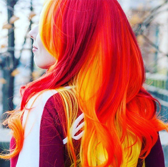 Fiery Luminous Hair