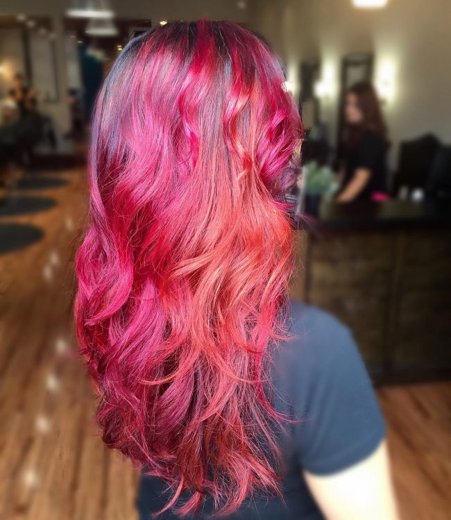 Fiery Mermaid Hair