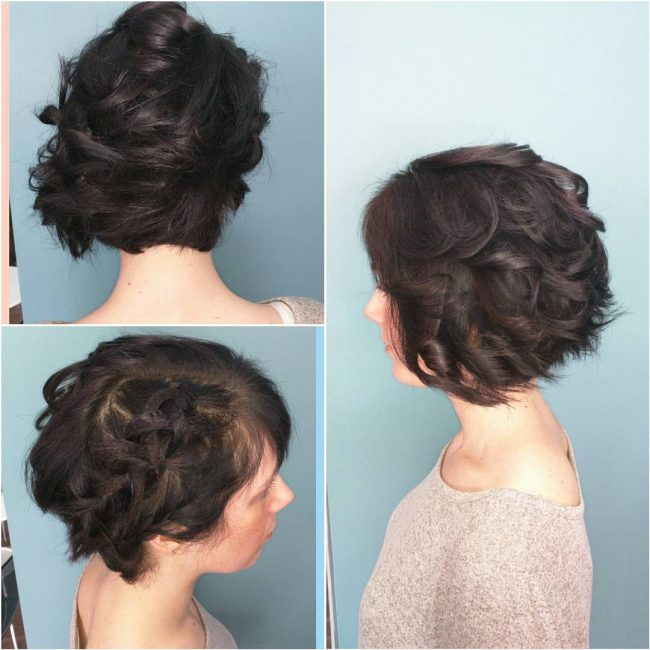 Fine and Curly Updo