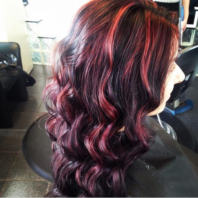 Flowing Spirals with Red Highlights