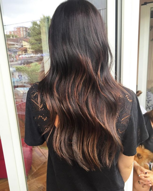Flowing Waves with Tangerine Highlights