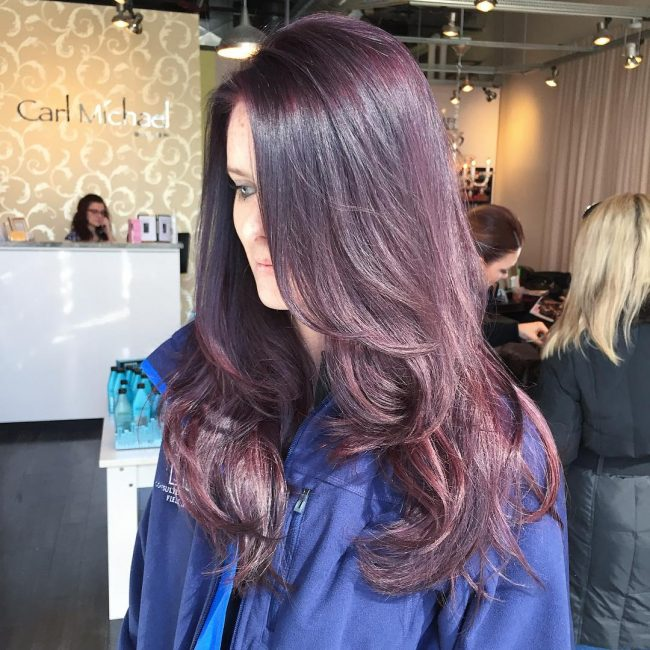 Fresh Deep Violet and Black Melt