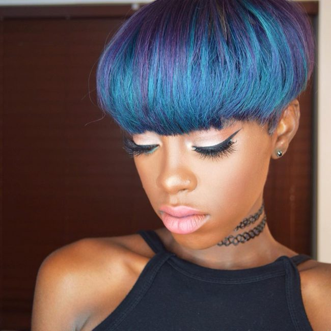 Funky Blue Crop Cut