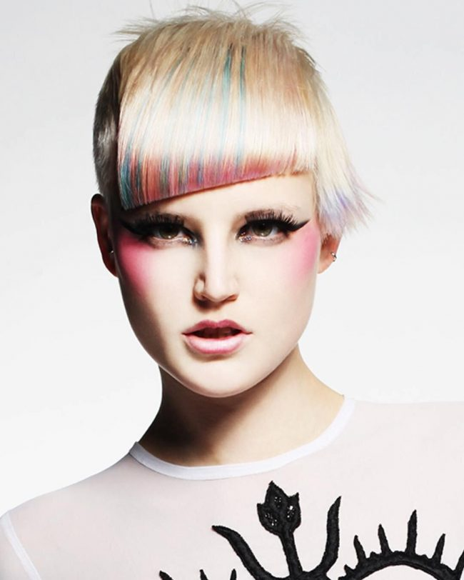 Futuristic Bob with Crisply Cut Fringe