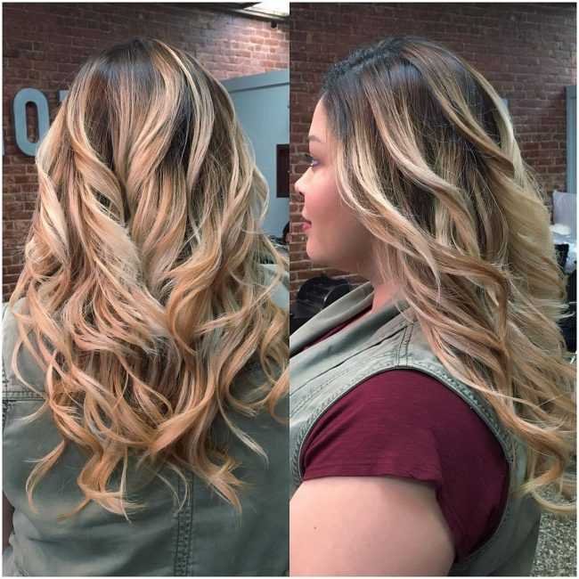 Glamorous Strawberry Blonde Ombre
