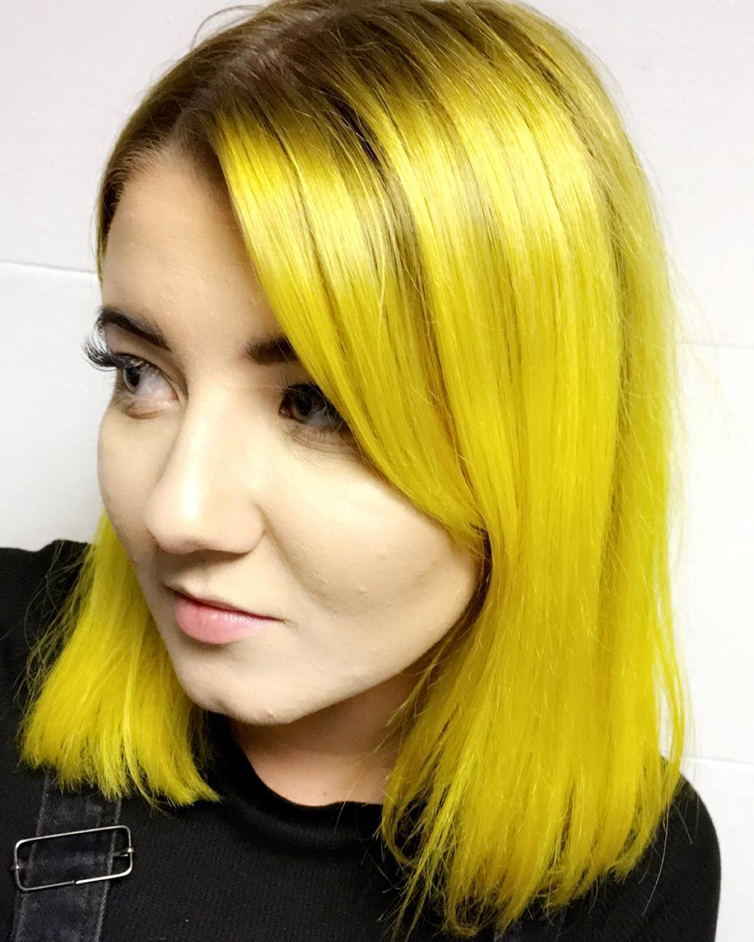 Bright Yellow Hair Natural